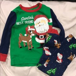 Rudolph Christmas PJ Set